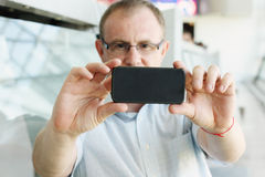 Selfie portrait of a handsome 35 years old man Stock Photography