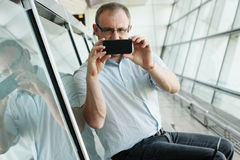 Selfie portrait of a handsome 35 years old man Royalty Free Stock Photography