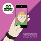 Selfie projekta płaska ilustracja Obraz Stock