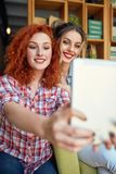 Selfie in pub stock images