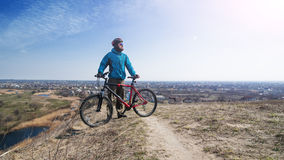 Selfie rápido antes de que usted vaya en una bici Fotografía de archivo libre de regalías