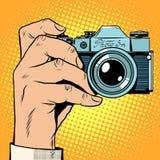Selfie retro de la foto de la cámara Imágenes de archivo libres de regalías