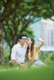 Selfie romantique Photos libres de droits