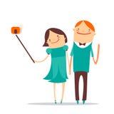 Selfie romantisch paar Royalty-vrije Stock Fotografie