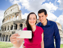 Selfie in Rome Royalty Free Stock Images
