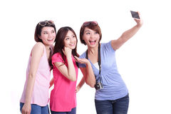 Selfie samen Stock Foto's