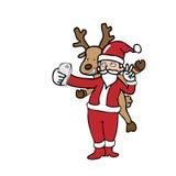 Selfie Santa and reindeer Stock Image