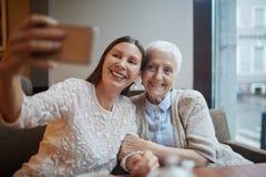 Selfie of senior friends Royalty Free Stock Image