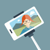 Selfie set photo illustration. Stock Photography