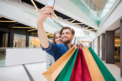 Selfie from shopping centre royalty free stock photo