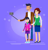 Selfie shots family and couples vector Stock Images
