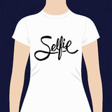 Selfie simple text design for a t-shirt Stock Photography