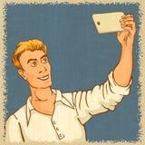 Selfie on smartphone. Stock Photos