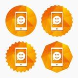 Selfie smile face sign icon. Self photo symbol. Royalty Free Stock Photo