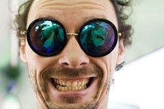 Selfie-smileygesicht Stockbilder