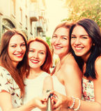 Selfie of smiling women Stock Photography