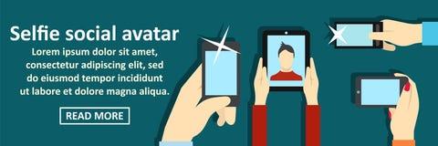 Selfie social avatar banner horizontal concept Stock Photo