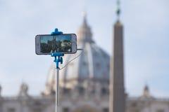 Selfie in St Peter Lizenzfreie Stockfotos