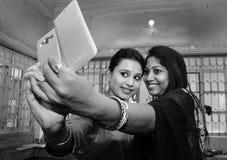 Selfie stelt Royalty-vrije Stock Foto's