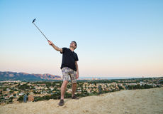 Selfie stick Stock Photography