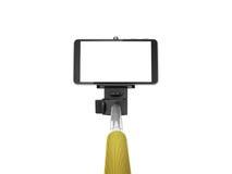 Selfie stick monopod. On white background Stock Photos