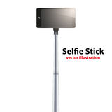 Selfie Stick with smartphone Royalty Free Stock Photo