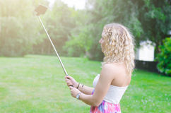 Selfie stick Royalty Free Stock Photography