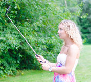 Selfie stick Royalty Free Stock Photos