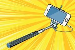 Selfie-Stock Smartphoneschießen stock abbildung