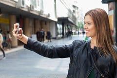 Selfie on the street Royalty Free Stock Photos
