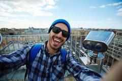 Selfie sul viaggio immagine stock libera da diritti