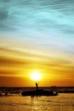 Selfie sur le bord de la mer Photographie stock libre de droits