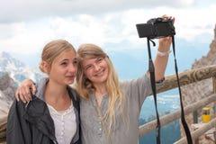 Selfie sur le dessus Images libres de droits
