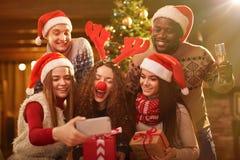 Selfie sur Noël Photo libre de droits