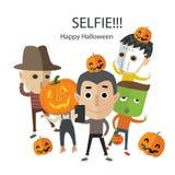 Selfie szczęśliwy Halloween Zdjęcia Stock