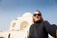 Selfie, Taj Mahal, India Stock Images