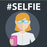 Selfie, taking self photo Royalty Free Stock Photography