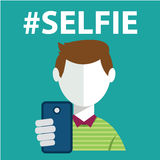 Selfie, taking self photo Royalty Free Stock Photo