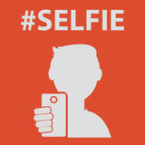 Selfie, taking self photo Stock Photo
