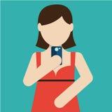 Selfie, taking self photo Royalty Free Stock Photo