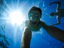 Selfie underwater Royalty Free Stock Image