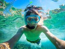 Selfie underwater Royalty Free Stock Photo