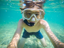 Selfie underwater Royalty Free Stock Images