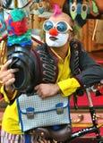 Selfie van een grappige straatkunstenaar Italy Stock Fotografie