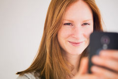 Selfie or Video Chat Stock Photo
