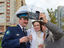 Selfie in wedding day Royalty Free Stock Images