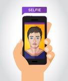 Selfie wektoru ilustracja Obrazy Stock
