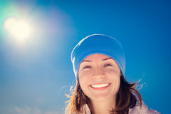 Selfie woman winter Royalty Free Stock Photos