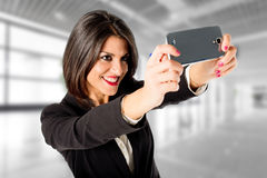 Selfie at work Royalty Free Stock Photo