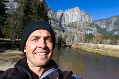 Selfie in Yosemite Stock Photos